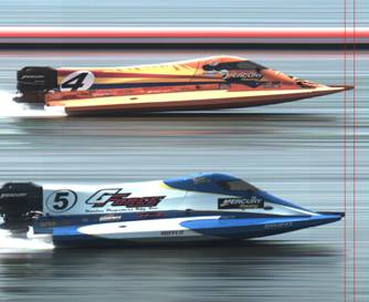 Speedboat fully automatic timing image