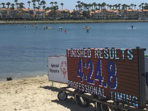 LED Displays at the SOWG Kayak races