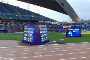 2-Sided LED Video scoreboard for track and field
