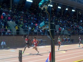 In-field FinishLynx cameras at the Penn Relays