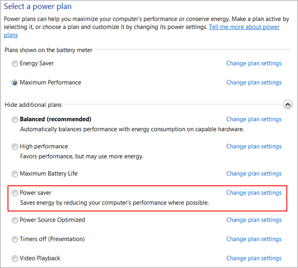 Disable Power Saving Function