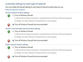 Firewall Off - Windows 7
