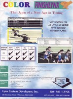 1994 Ad for the first color FinishLynx