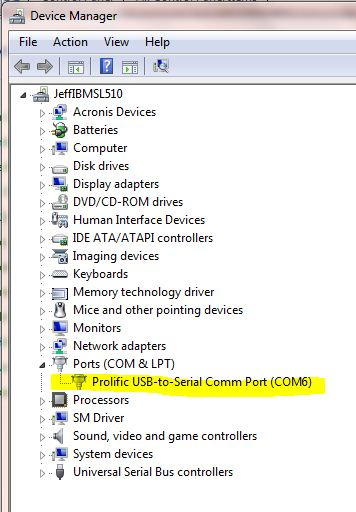 FAQ: My USB adapter is installed, but the COM port isn't listed in