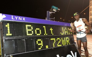 Usain Bolt 9.72 World Record FinishLynx
