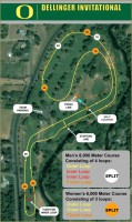 Course map for the Dellinger Cross Country Meet