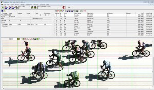 FinishLynx résultats du logiciel de capture du Tour de France