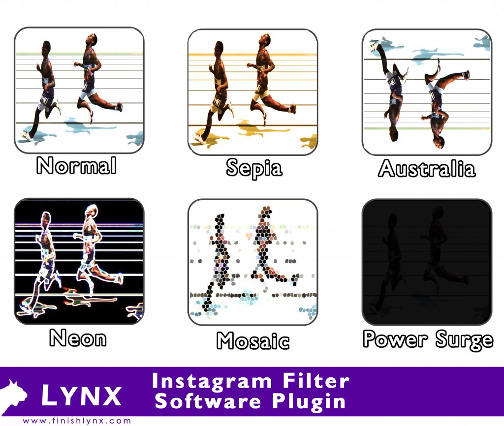 FinishLynx Instagram Filter Plugin for April Fool's Day.