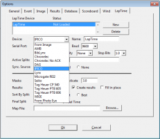 FinishLynx Lap Time Plug-in Options