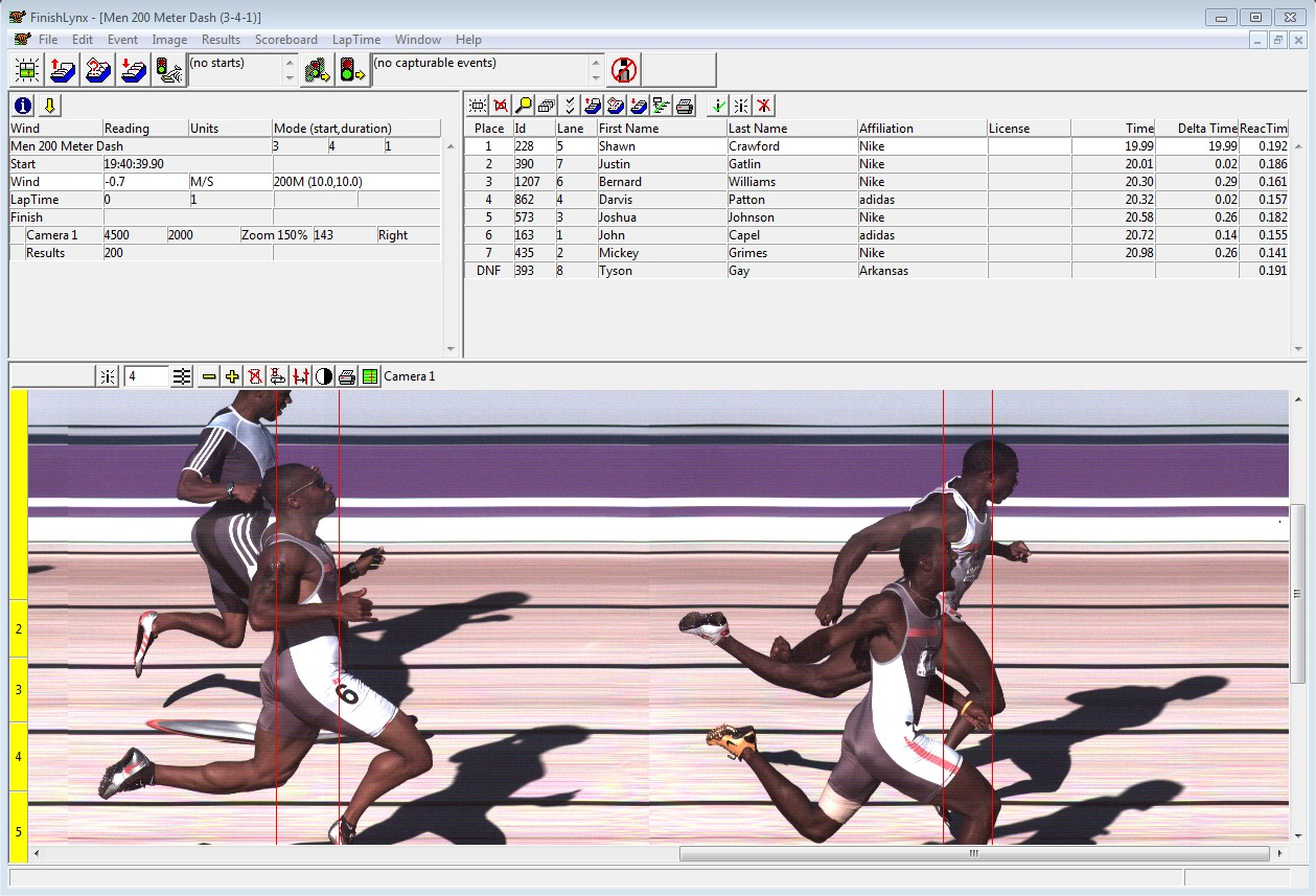 Electronic Timing Devices : Athletics timing systems for track field meets finishlynx