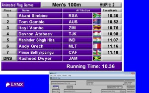 ResulTV 6.0 timing display and broadcast software with gif support