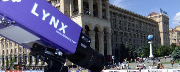 EtherLynx PRO photo-finish camera at a cycling event