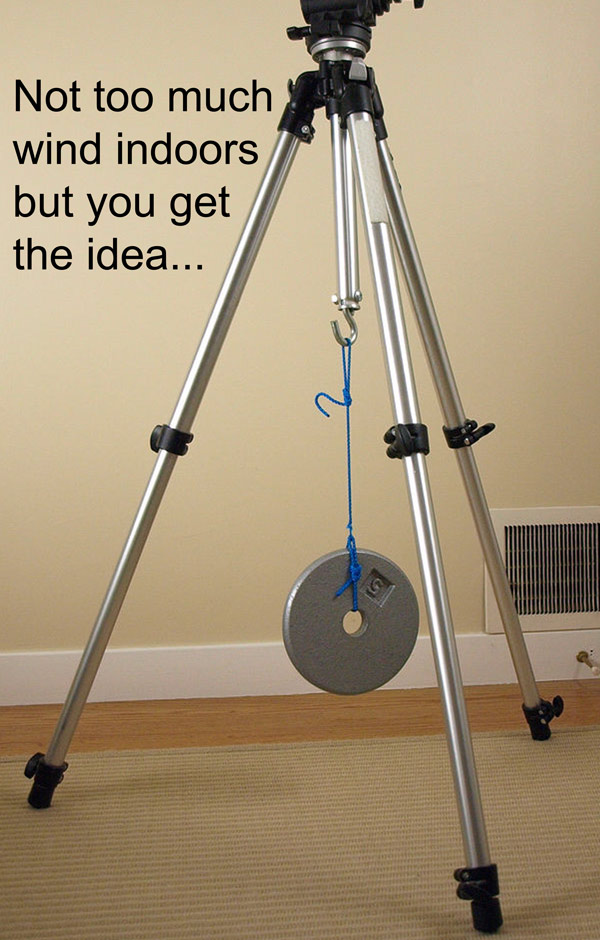 Anchor your tripod